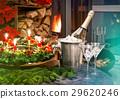 Candlelight dinner. Festive deco for christmas 29620246