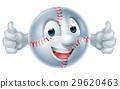 Baseball Softball Ball Man Character 29620463