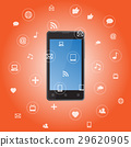 Smart phone with media application icons 29620905