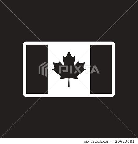 stylish black and white icon Canadian flag 29623081