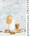 Fresh homemade dairy-free almond milk with craft 29625740
