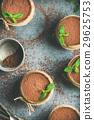 Homemade Italian dessert Tiramisu in glasses with 29625753