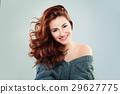 Redhead Woman Fashion Model Smiling 29627775