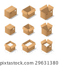 Isometric cardboard boxes 29631380