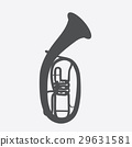 Widely Menzurny Brass Instrument Tube. Vector 29631581