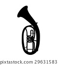 Widely Menzurny Brass Instrument Tube. Vector 29631583