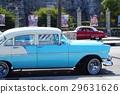 與古巴經典汽車的風景 29631626