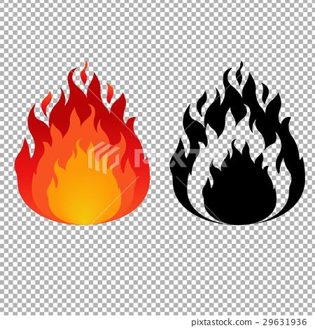 Fire Symbol Stock Illustration 29631936 Pixta