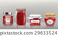 Collection of vector glass jars with jam in a 29633524