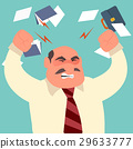 Busy time of angry businessman in hard working 29633777