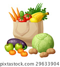 vector, bag, grocery 29633904