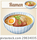 Japanese ramen soup Cartoon vector icon 29634035
