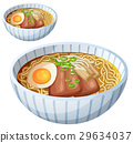 Japanese ramen soup Cartoon vector icon isolated 29634037