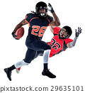 american football players men isolated 29635101