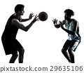 basketball players men  isolated silhouette shadow 29635106