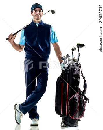 man golfer golfing isolated withe background 29635753