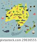 map of animal Kingdom of Australia and new Zealand 29636555