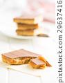 Sweet caramel dessert. 29637416