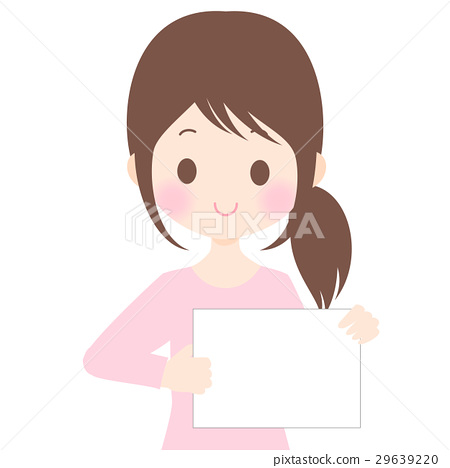 女性例證有輕碰背景·透明背景·傳染媒介物質拷貝空間 29639220