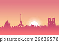 Vector illustration of Paris scenery at morning 29639578