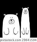 벡터, 문자, 곰 29641594