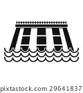 Hydroelectric power station icon, simple style 29641837