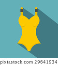 Yellow swimsuit icon, flat style 29641934