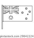Australian flag icon, outline style 29642224