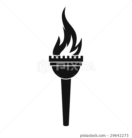 Torch icon, simple style 29642273
