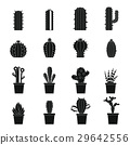 different, cactuses, icon 29642556