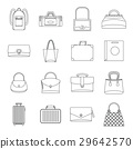Bag baggage suitcase icons set, outline style 29642570
