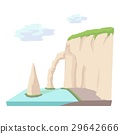 Sea cliff icon, cartoon style 29642666