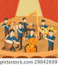 Orchestra musicians figures concept, cartoon style 29642699
