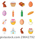 Easter icons set, cartoon style 29642792