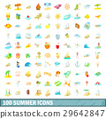 100, summer, icons 29642847