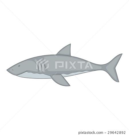 Shark icon, cartoon style 29642892
