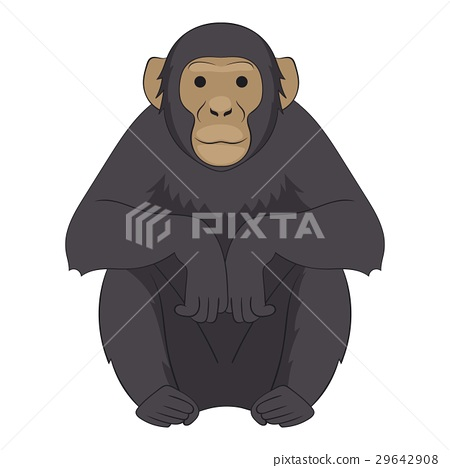 Chimpanzee icon, cartoon style 29642908