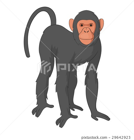 Bonobo monkey icon, cartoon style 29642923
