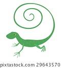 Fast lizard icon, cartoon style 29643570