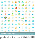 ocean, icons, collection 29643688