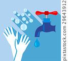 washing, hand, icon 29643912