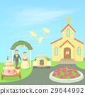 Wedding concept, cartoon style 29644992