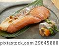 생선 구이, 연어, 클로즈업 29645888
