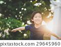 Asian child playing pilot aviator 29645960