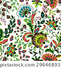 Hand drawn flower seamless pattern. Colorful 29646893