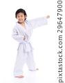 Asian child in White Kimono 29647900