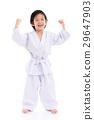 winner child jumping on white backgroud 29647903