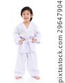 Asian child in White Kimono 29647904
