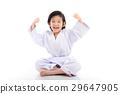 winner child sitting on white backgroud 29647905
