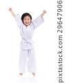 winner child jumping on white backgroud 29647906